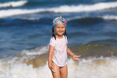 Baby and ocean Royalty Free Stock Photos