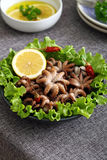 Baby octopus salad Stock Photography