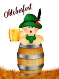 Baby for oktoberfest Stock Image