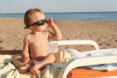 Free Baby On The Beach Stock Image - 8538731