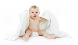 Free Baby On White Background Stock Images - 46741504