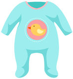 Baby onesie template Stock Image