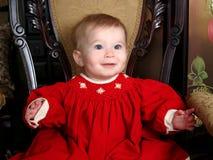 Baby op Antieke Stoel Royalty-vrije Stock Afbeelding