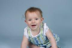 Baby op Blauw Stock Foto's
