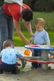 Baby op de speelplaats Royalty-vrije Stock Foto