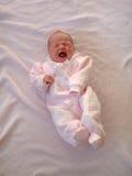 Baby op Deken Stock Foto's