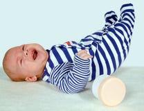 Baby op deken Royalty-vrije Stock Afbeeldingen