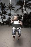 Baby op een schommeling Royalty-vrije Stock Foto