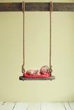 Baby op een schommeling royalty-vrije stock fotografie
