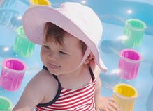 Baby op het strand Royalty-vrije Stock Fotografie