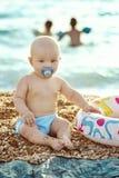 Baby op het Strand Royalty-vrije Stock Foto