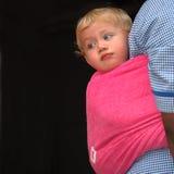 Baby op rug Royalty-vrije Stock Afbeelding
