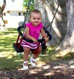 Baby op schommeling Royalty-vrije Stock Afbeeldingen