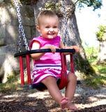 Baby op schommeling royalty-vrije stock foto