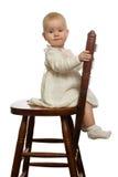 Baby op stoel. Stock Foto's