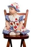 Baby op stoel. stock fotografie