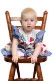 Baby op stoel. royalty-vrije stock afbeeldingen