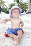 Baby op Strand Royalty-vrije Stock Fotografie