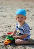 Baby op strand Royalty-vrije Stock Foto