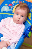Baby op tuimelschakelaar Stock Foto's