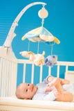 Baby op voederbak Royalty-vrije Stock Fotografie
