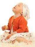 Baby op wit stock afbeelding