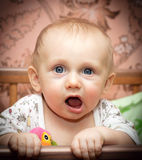 Baby open mouth Stock Photography
