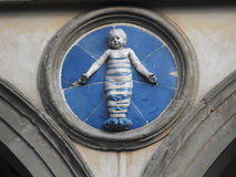 Baby of Orsanmichele, Florence Stock Images