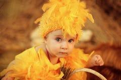 Baby in Ostern-Nest Lizenzfreies Stockfoto
