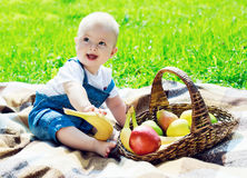 Baby outdoor Royalty Free Stock Photography