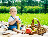 Baby outdoor Stock Photography