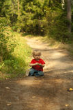 Baby outdoors Royalty Free Stock Image