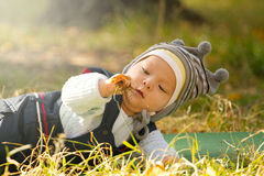 Baby Outdoors Royalty Free Stock Photography