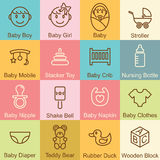 Baby outline design Royalty Free Stock Photos