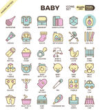 Baby outline icons Stock Photography