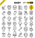 Baby outline icons Stock Image