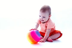 Baby over white stock images