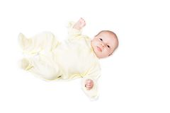 Baby over white Stock Image