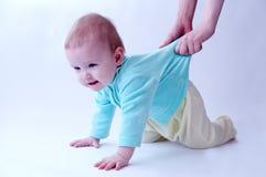 Baby over wit royalty-vrije stock afbeelding