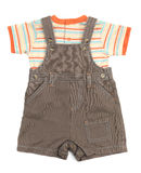 Baby overalls set of clothes Stock Photos