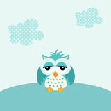 Baby owl boy background Royalty Free Stock Images
