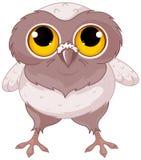 Baby Owl. Illustration of a cartoon baby owl Royalty Free Stock Photos