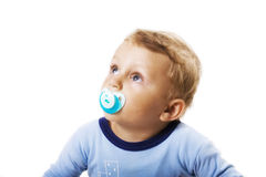 Baby of pacifier. On white background royalty free stock images
