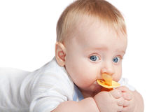 Baby with a pacifier Royalty Free Stock Photos