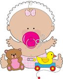 Baby Pacifier Girl Royalty Free Stock Photo