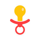Baby pacifier icon. Royalty Free Stock Images