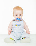 The baby with a pacifier Royalty Free Stock Image