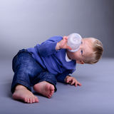 Baby with pacifier Royalty Free Stock Images