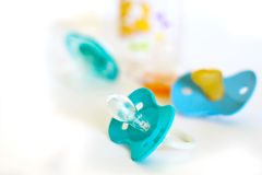 Baby pacifier to soothe the child Stock Photos