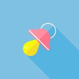 Baby pacifier vector icon Stock Images